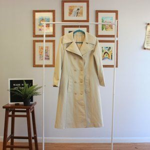 Vintage Spring Double Breasted Trench Coat S M